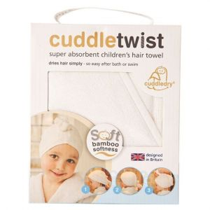 Cuddledry White Cuddletwist Bamboo Hair Towel
