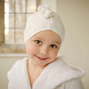 Cuddledry Ecru and Gingham Cuddletwist Bamboo Hair Towel