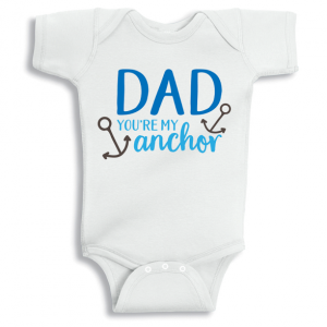 Twinkle Hands Dad you are my anchor Baby Onesie, Bodysuit, Romper