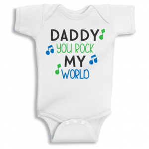 Twinkle Hands Daddy you rock my world Baby Onesie, Bodysuit, Romper