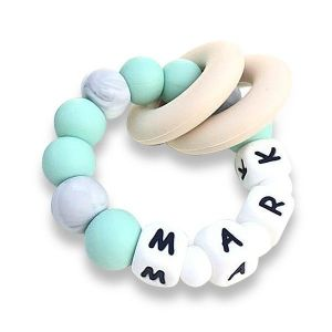 Desert Chomps Personalized Teether Vera - Mint
