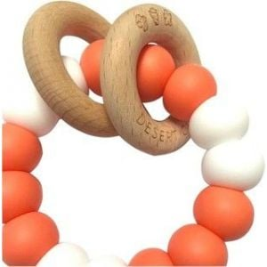 Desert Chomps Coral & Pearls Ringlet Summer Time Teether
