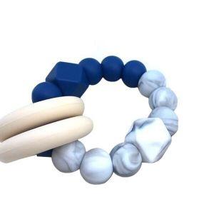 Desert Chomps Blue Marble Vera Hexi Block Teether