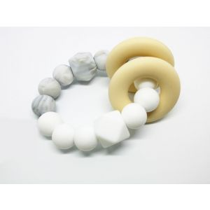 Desert Chomps Marble Pearl Vera Hexi Block Teether