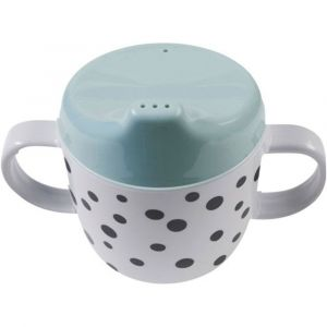 Done by Deer 2 Handle Spout Cup Happy Dots blue