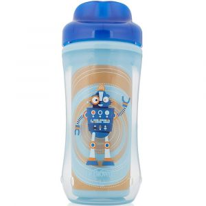 Dr Browns Blue Robot Spoutless Stage 4 Insulated Cup - +12m - 10oz