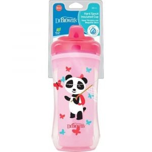 Dr Browns Pink Panda Hard Spout Stage 3 Insulated Cup - +12m - 10oz