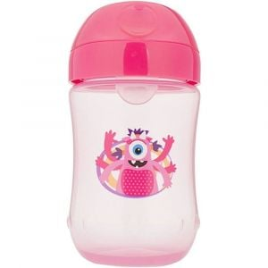 Dr. Browns Pink Monster Soft Spout Toddler Cup - 9oz