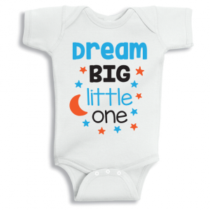 Twinkle Hands Dream big little one Baby Onesie, Bodysuit, Romper