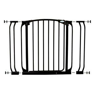 Dreambaby Chelsea Black Doorway Security Gate & Extension Set