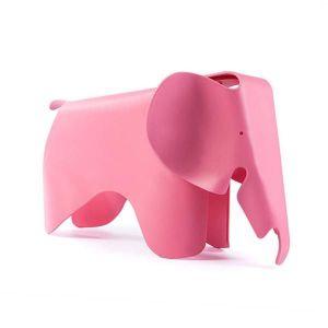 Caramel and Sun Pink Elephant Stool
