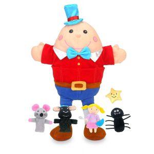 Fiesta Crafts Hand Puppet & Finger Puppet Nursery Rhymes Set