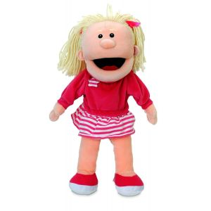 Fiesta Crafts Hand Puppet Girl Moving Mouth