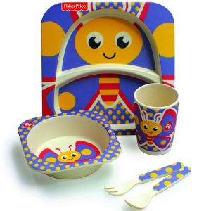 Fisher Price Bamboo Dining Set - Butterfly
