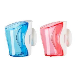 Flipper 2 In 1 Blue & Pink Toothbrush Holder