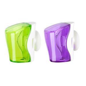 Flipper 2 In 1 Green & Purple Toothbrush Holder