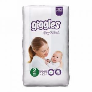 Giggles Dry & Soft Baby Diaper 56pcs size 2 (3-6 kg)
