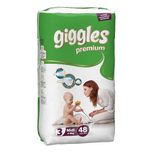 Giggles Baby Diaper Size 3( 5-9 kg) - 48Pcs
