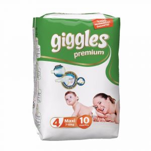 Giggles Baby Diaper Size 4( 7-18 kg) - 10Pcs