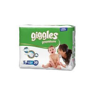 Giggles Baby Diaper Size 5( 11- 18 kg) - 36Pcs