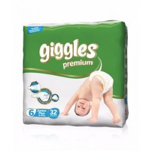 Giggles Baby Diaper Size 6( 15- 30 kg) - 32Pcs