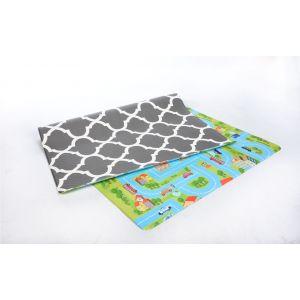 Bumpa Mat Grey Honeycomb and Blue Track