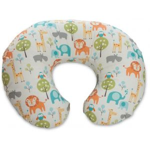 CHICCO - Boppy Pillow With Cotton Slipcover -Peaceful Jungle