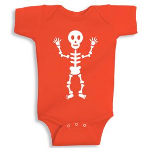 Twinkle Hands Halloween Baby Orange Onesie, Bodysuit, Romper