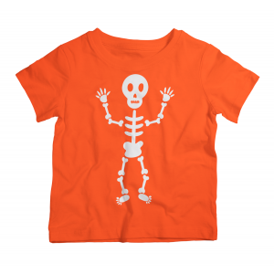 Twinkle Hands Halloween Skeleton Orange Tshirt