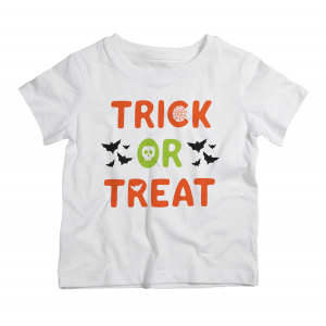 Twinkle Hands Halloween Trick or Treat White Tshirt
