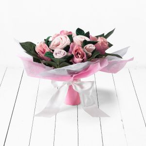 Baby Blooms Hand Tied Bouquet - Pink