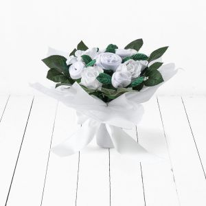 Baby Blooms Hand Tied Bouquet - White