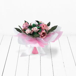 Baby Blooms Hand Tied Posy - Pink