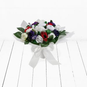 Baby Blooms Hand Tied Royal Baby Bouquet
