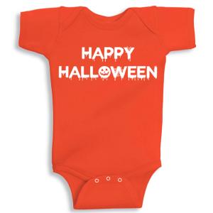 Twinkle Hands Happy Halloween, Orange Baby Onesie, Bodysuit, Romper