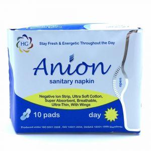 HG Anion Day Use Sanitary Napkin - 10 pads