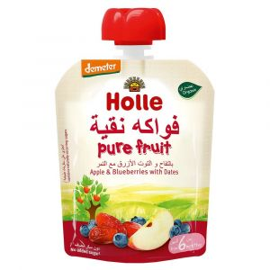 Holle Organic Peach Apple, Blueberry with Dates - 90g
