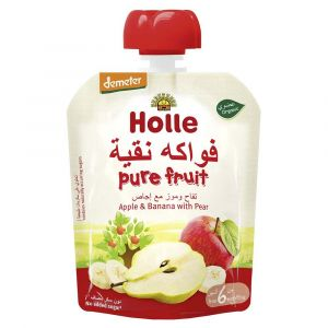 Holle - Pouch Apple & Banana with Pear - 90g