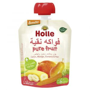 Holle - Pouch Peach Carrot, Mango, Banana & Pear - 90g