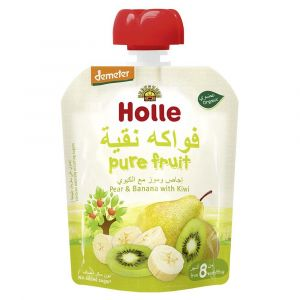 Holle - Pouch Pear & Banana with Kiwi - 90g