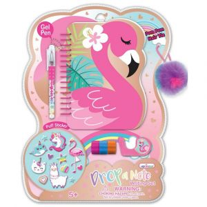 Hot Focus Drop a Note Writing Set - Flamingo