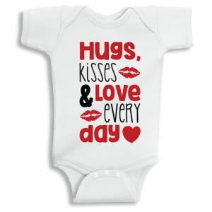 Twinkle Hands Hugs and Kisses Baby Onesie, Bodysuit, Romper