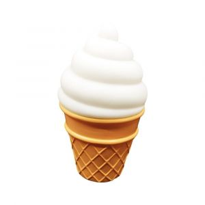 Eazy Kids - Ice Cream Night Lamp Light - White