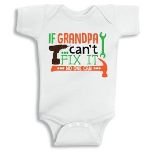 Twinkle Hands If Grandpa Can't Fix It Baby Onesie, Bodysuit, Romper