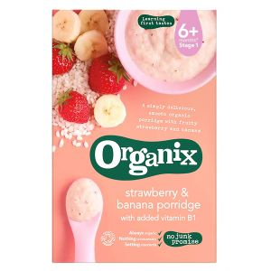 Organix Strawberry & Banana Porridge - 120g