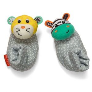 Infantino Foot Rattles - Zebra/Tiger Toy