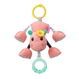 Infantino Shake & Pull Jittery Pal - Hippo Toy