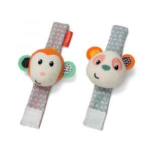 Infantino Wrist Rattles - Monkey/Panda Toy