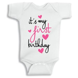 Twinkle Hands It's my first birthday Baby Onesie, Bodysuit, Romper