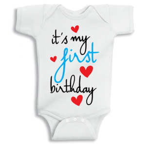 Twinkle Hands It's my first birthday Baby Onesie, Bodysuit, Romper